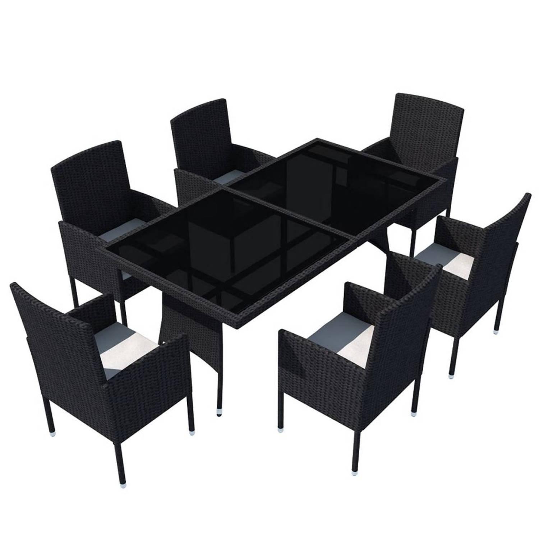 Wicker Eettafel Set Met 8 Stoelen En 4 Krukken Zwart.Tuinstoelen Jouw Ideale Stoelen Voor In De Tuin Blokker Nl