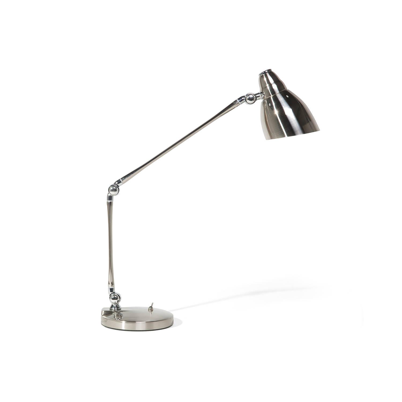 Beliani Patoka Bureaulamp Zilver Metaal