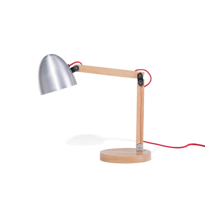 Beliani Veleka Bureaulamp Zilver