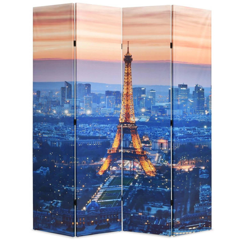 vidaXL Kamerverdeler inklapbaar Parijs bij nacht 160x180 cm