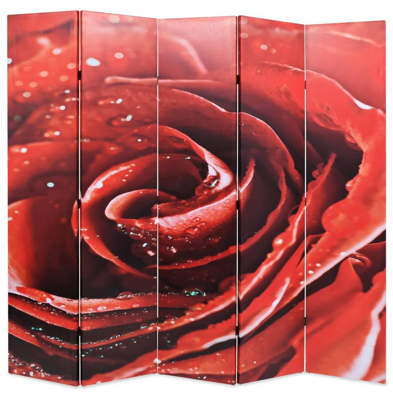 vidaXL Kamerverdeler inklapbaar roos 200x180 cm rood