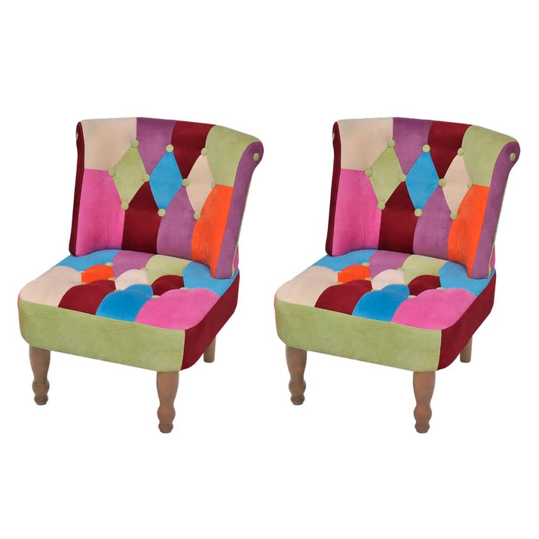Lappendeken stoel in Franse stijl (2 stuks)