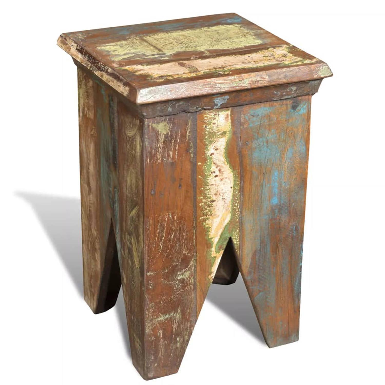 vidaXL Krukje in antieke stijl gerecycled hout
