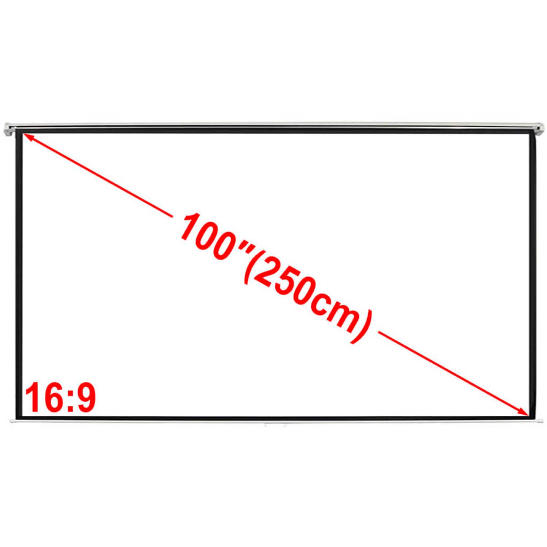 vidaXL Projectiescherm (4:3 formaat) wit 200×153 cm