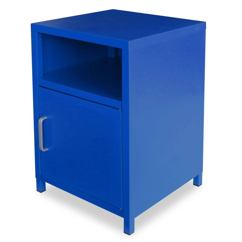 vidaXL Nachtkastje 35x35x51 cm blauw