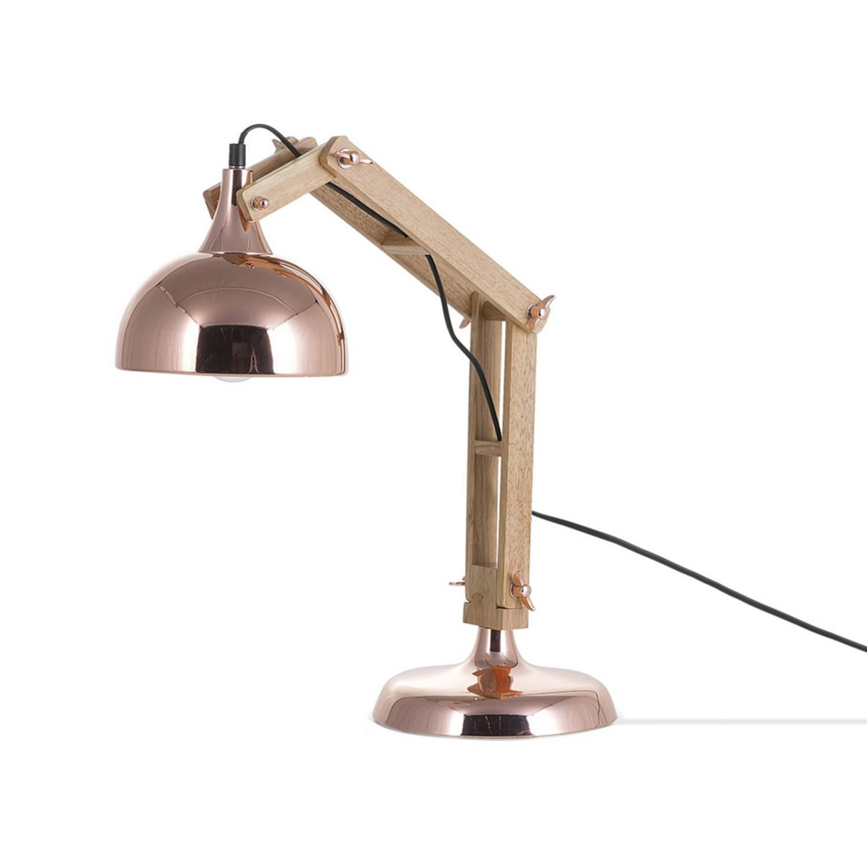 Korting Beliani Salado Bureaulamp Hout 20 X 20 Cm