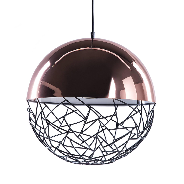 Korting Beliani Padma Hanglamp Staal 35 X 35 Cm