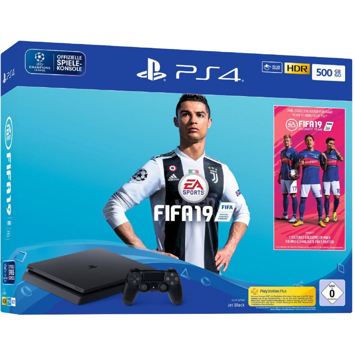 PlayStation 4 Slim 500 GB + FIFA 19
