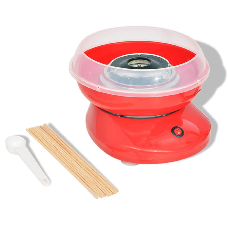 vidaXL Suikerspinmachine 480 W rood