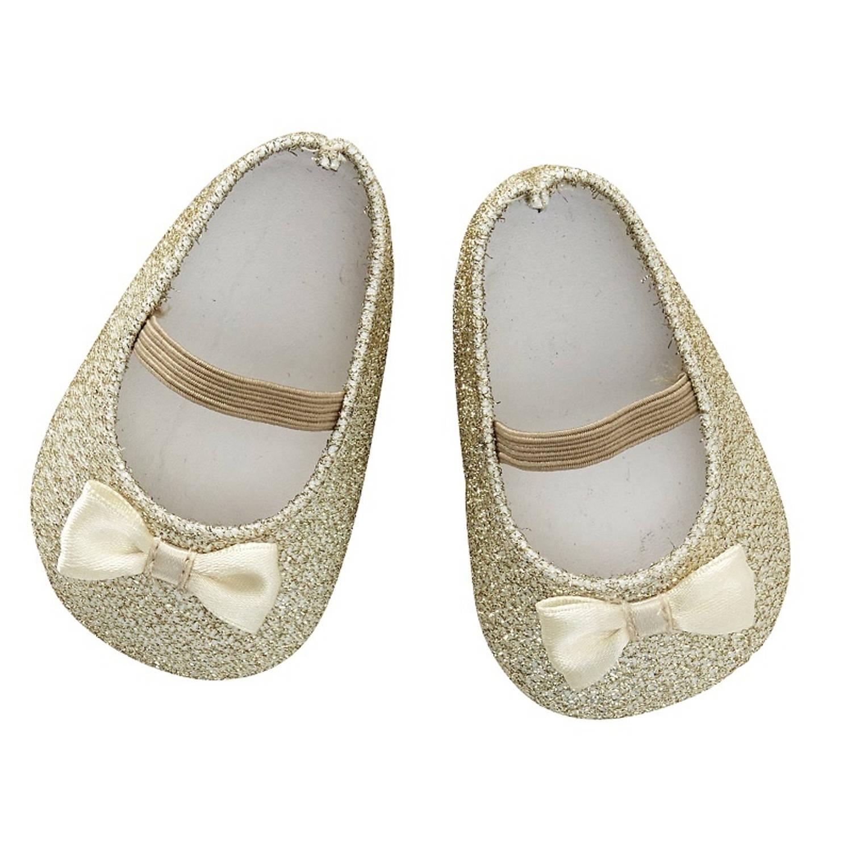 byAstrup poppenschoentjes glitter goud voor pop van 45 cm