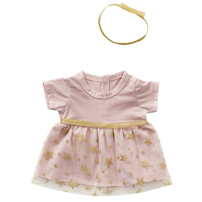 byAstrup tutu-poppenjurk met haarband 35 cm roze