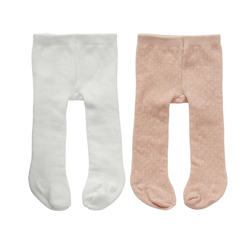 byAstrup maillots roze/wit voor pop van 50 cm 2 stuks
