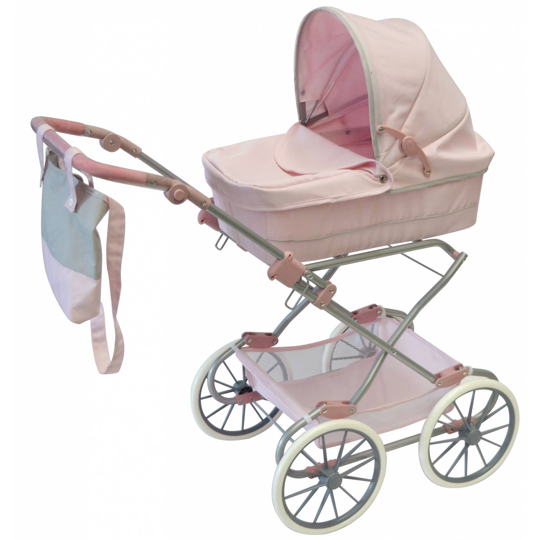 byAstrup luxe poppenwagen 98 cm klassiek roze