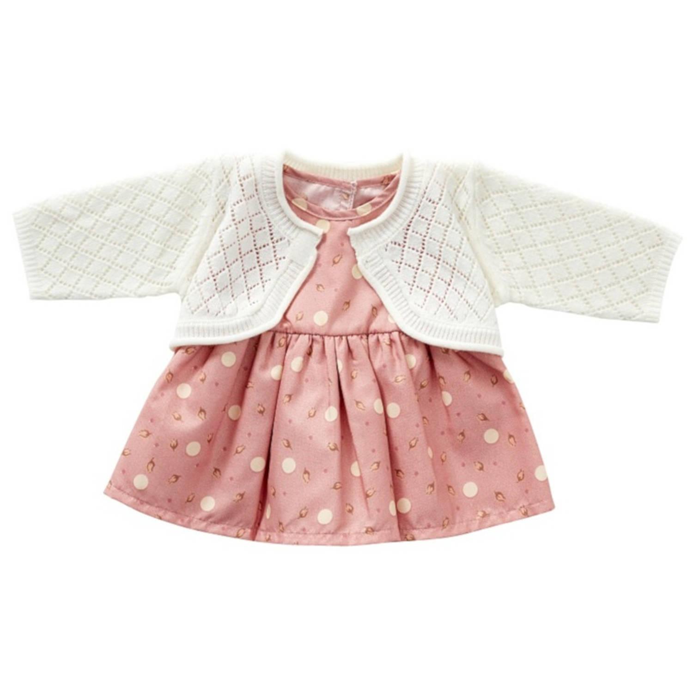 byAstrup kledingset babypop gebreid 50 cm roze