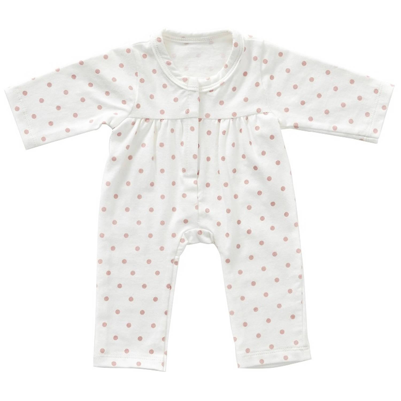 byAstrup onesie voor babypop van 35 cm roze dots