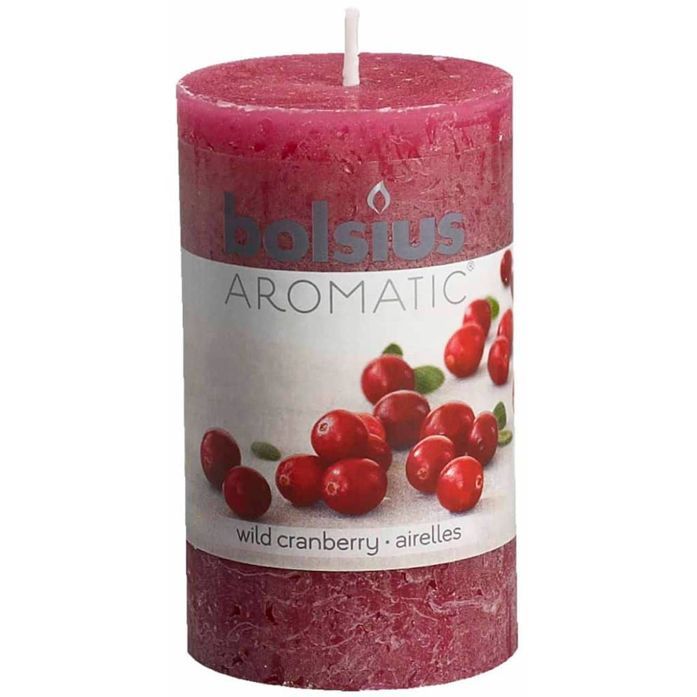 Bolsius Rustieke geurkaarsen Wild Cranberry 6 st 103626240389