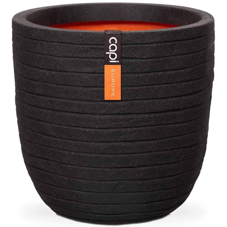 Capi Bloempot Nature Row 54x52 cm zwart PKBLRO935