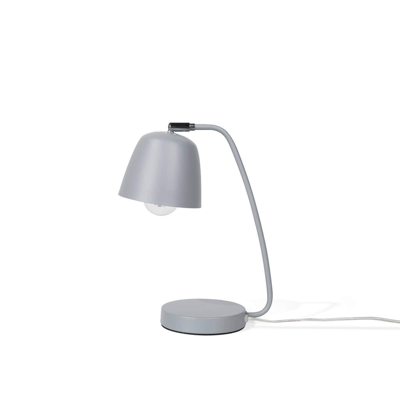 Beliani Urola Tafellamp Grijs Metaal