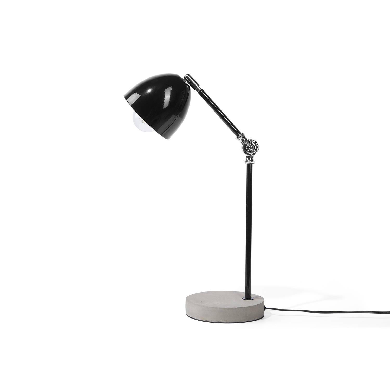 Beliani Chanza Bureaulamp Zwart