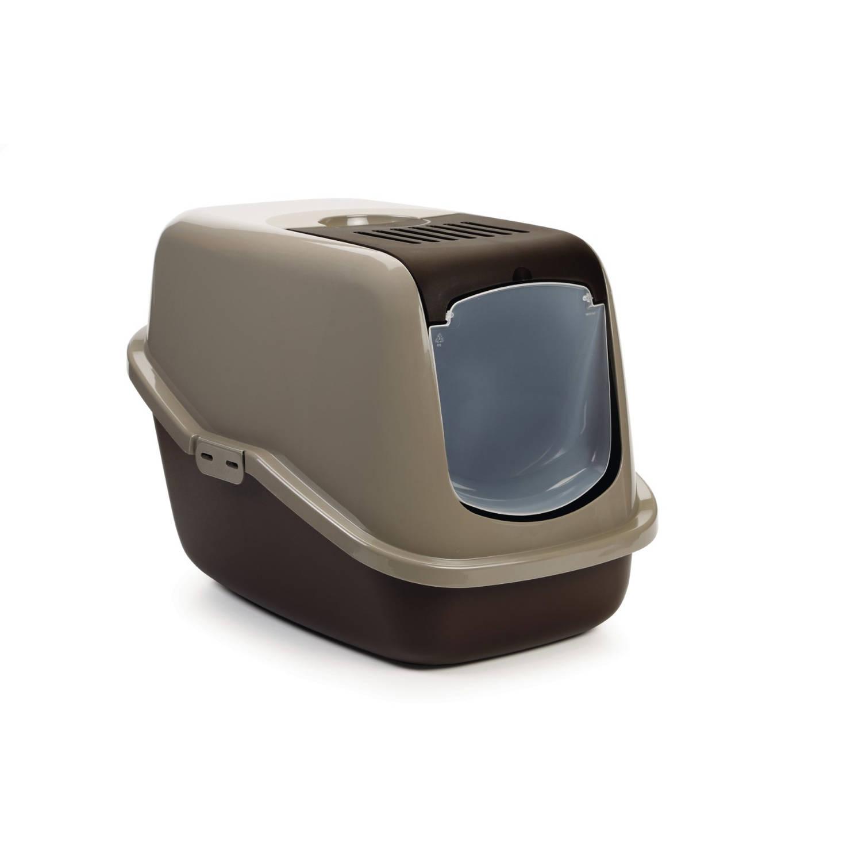 Kattenbak nestor bruin /grijs 56x39x41