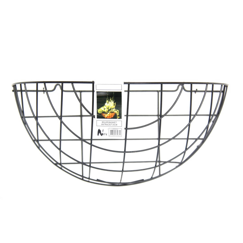 5 stuks Muur basket 35cm antraciet