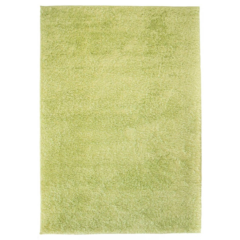 vidaXL Vloerkleed shaggy hoogpolig 80x150 cm groen