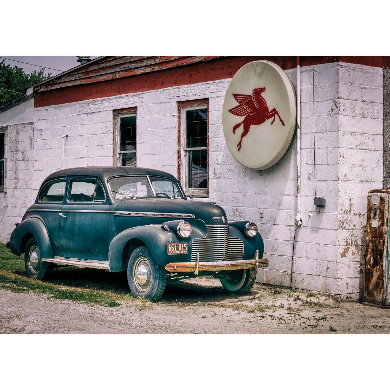 2 Stuks Tuinschilderij Car Blue 50x70cm