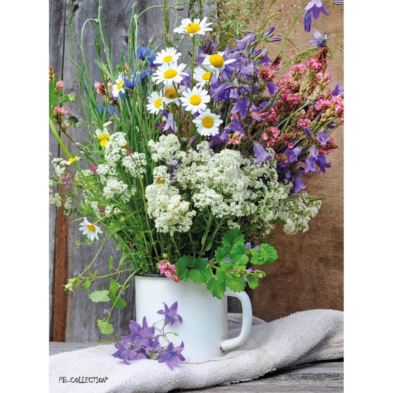 2 Stuks Tuinschilderij Wild Flower Bouquet 50x70cm