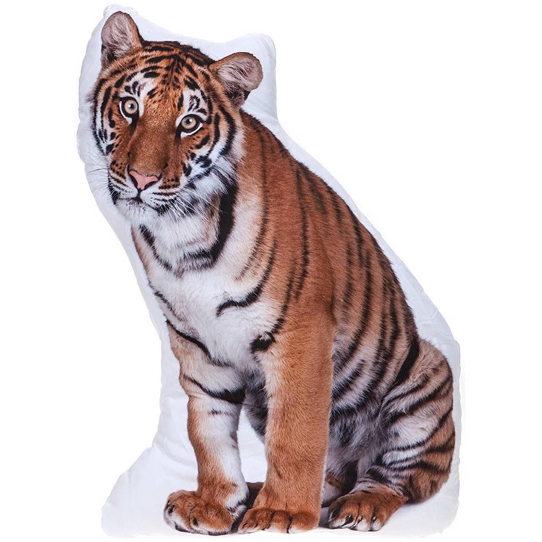 Kamparo kussen tijger wit/bruin 62 cm
