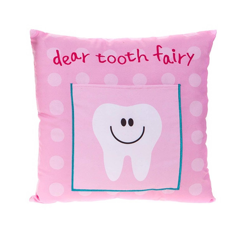 Kamparo kussen Tooth Fairy 30 x 30 cm roze