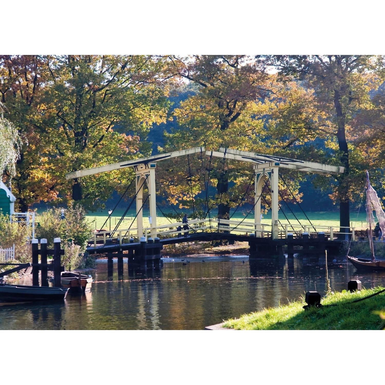 2 Stuks Tuinschilderij Dutch Bridge 50x70cm