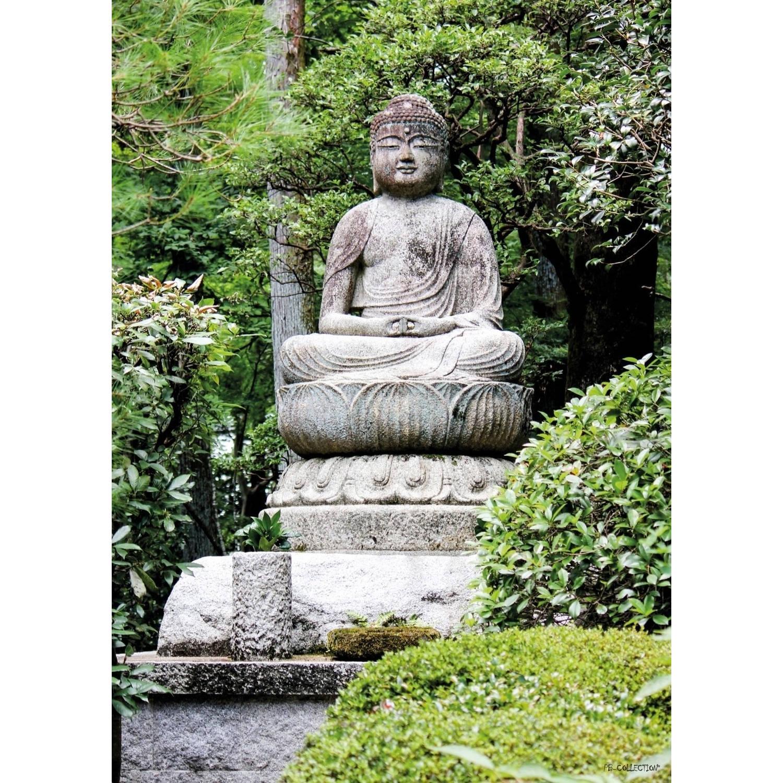 2 Stuks Tuinschilderij Buddha Sitting 50x70cm