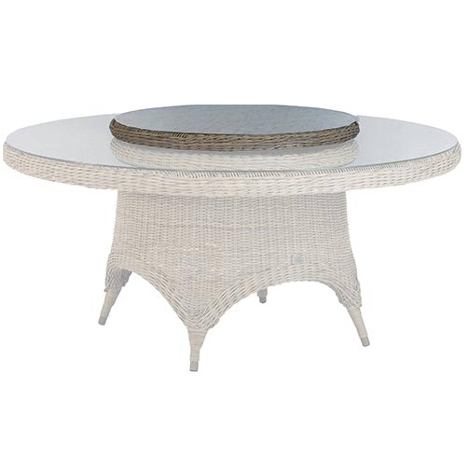 4 Seasons Outdoor Lazy susan 90 cm. Ø +glas Pure
