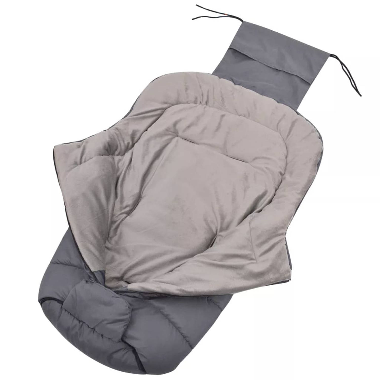 vidaXL Baby voetenzak-wandelwagen slaapzak 90x45 cm grijs