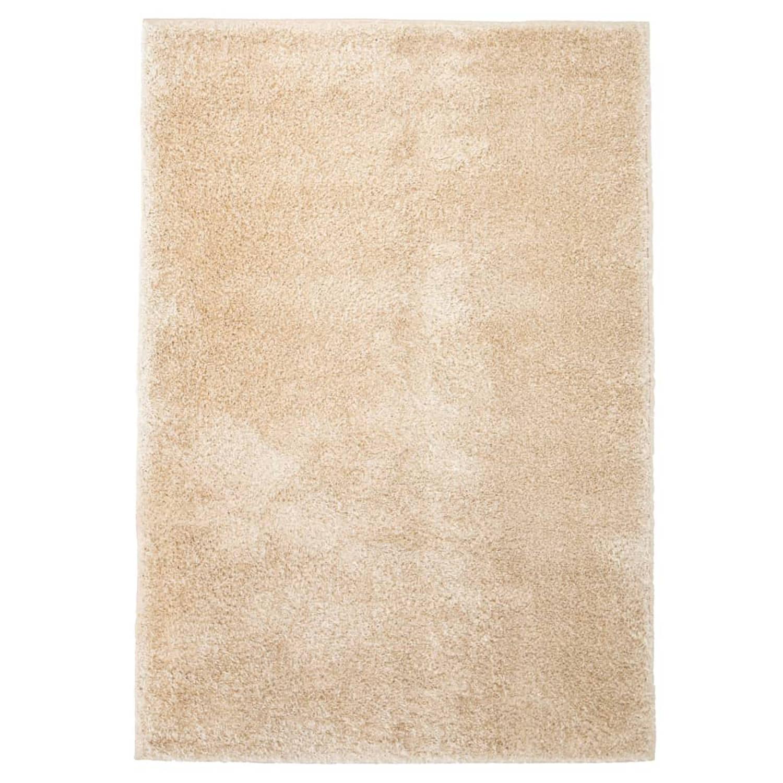 vidaXL Vloerkleed shaggy hoogpolig 80x150 cm beige