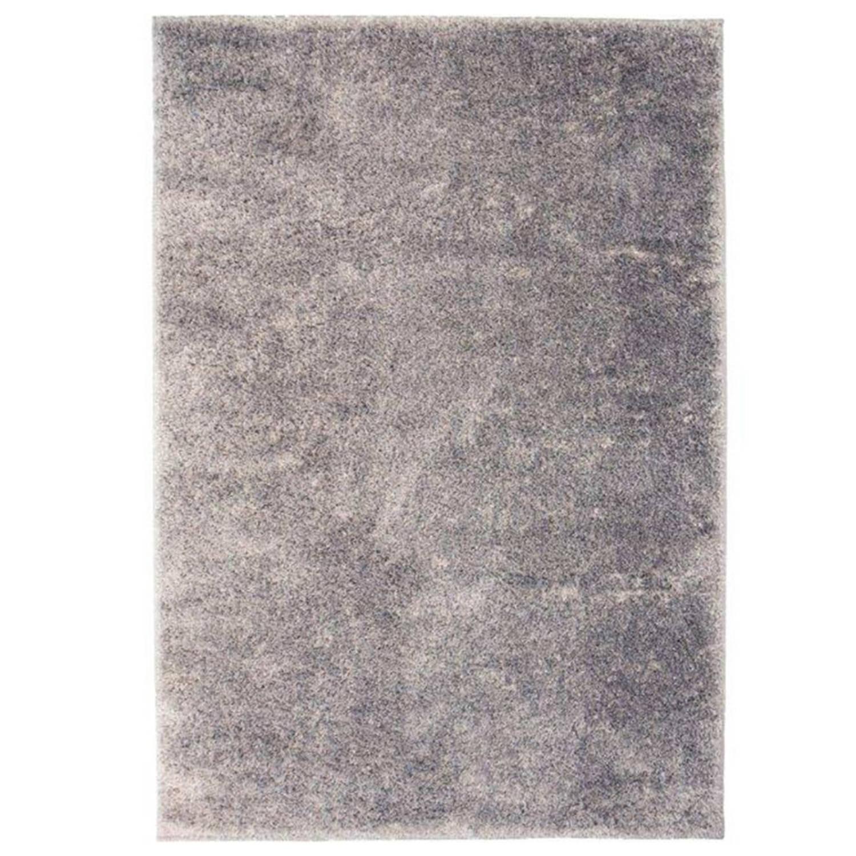 vidaXL Vloerkleed shaggy hoogpolig 120x170 cm grijs