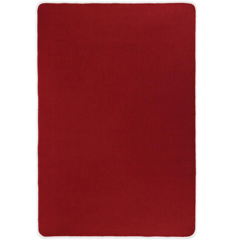 vidaXL Tapijt met latex onderkant 160x230 cm jute rood