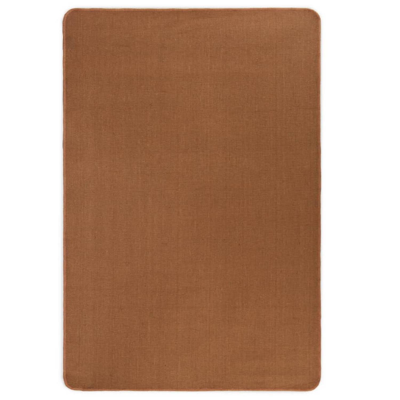 vidaXL Tapijt met latex onderkant 160x230 cm jute bruin