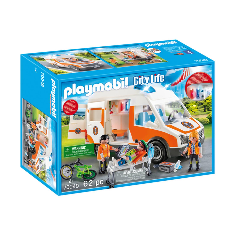 Korting PLAYMOBIL City Life ambulance en ambulanciers 70049