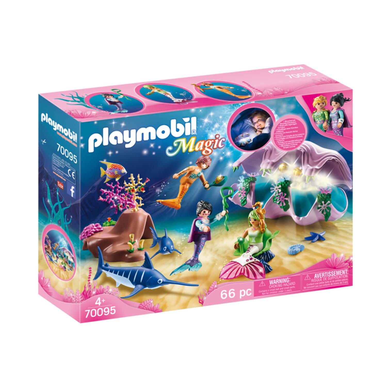 Korting PLAYMOBIL Magic Nachtlamp in schelp met meerminnen 70095