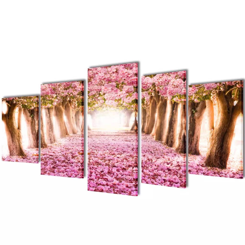 Image of Canvasdoeken kersenbloesem 200 x 100 cm