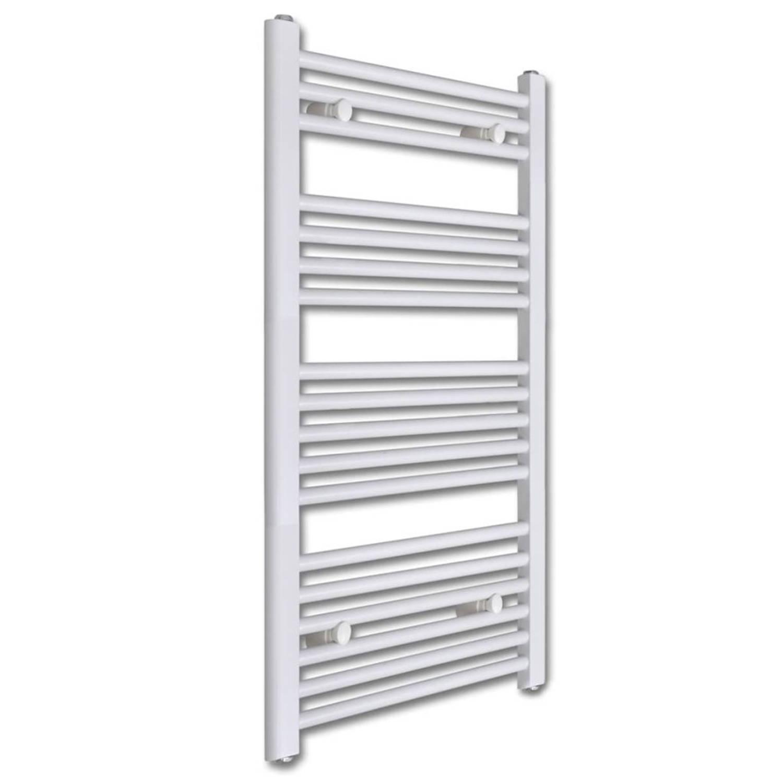 vidaXL Badkamer radiator/handdoekenrek recht 500x1160 mm 600 W