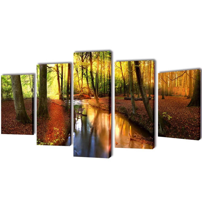 Image of Canvasdoeken Bos 100 x 50 cm