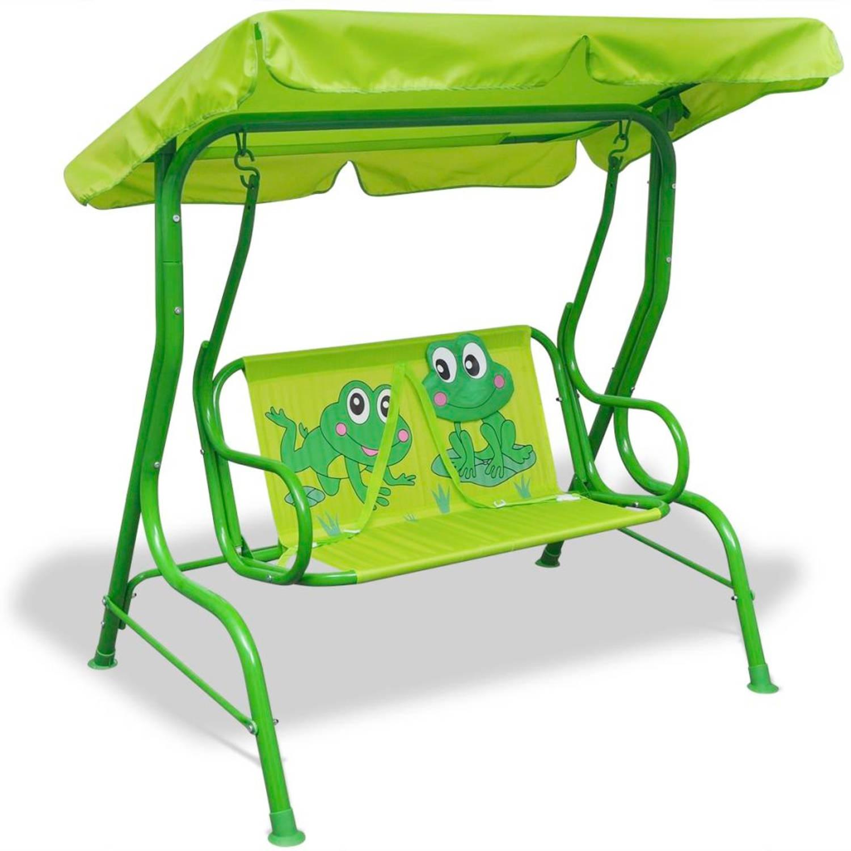 Vidaxl Kinderschommelstoel Groen