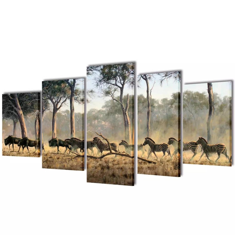 Canvasdoeken Zebra's 100 X 50 Cm