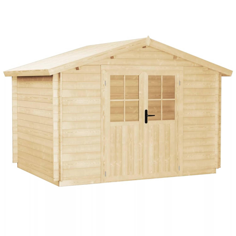 vidaXL Tuinhuis 3,1x3 m 28 mm massief hout