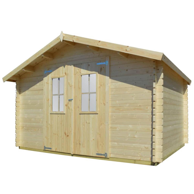 vidaXL Tuinhuis 4x3 m 34 mm massief hout