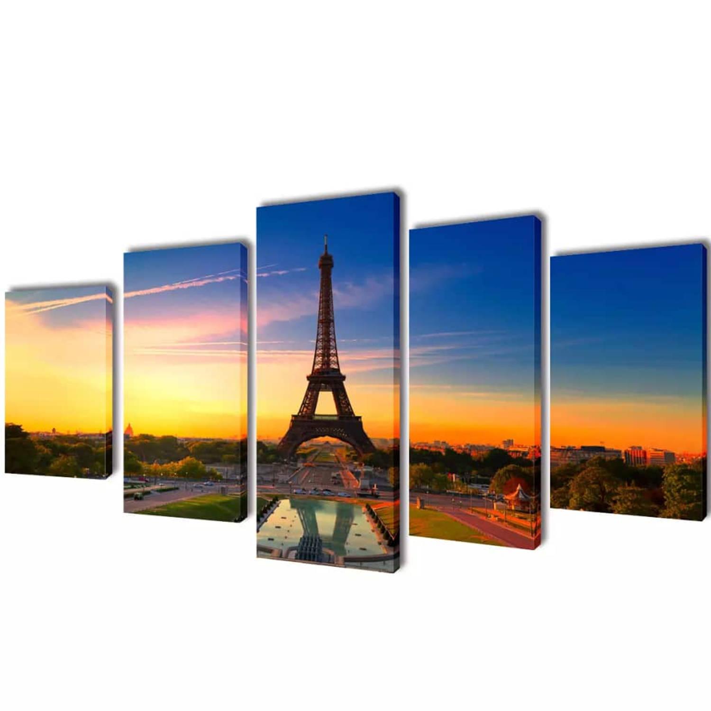 Canvasdoeken Eiffeltoren 200 X 100 Cm