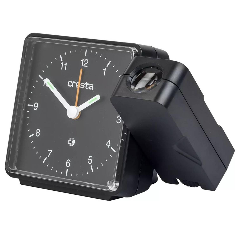 Cresta Analoge wekker met projector PRA310 zwart 24050.01