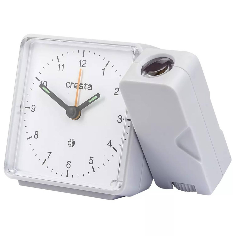 Cresta Analoge wekker met projector PRA310 wit 24011.01